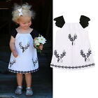 Age 2-6Y Kids Girls Summer Dress Princess Party Lace Floral Dress Skirts Clothes