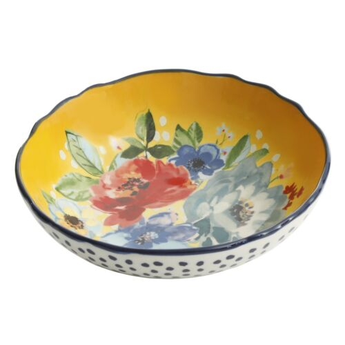 Details about  /The Pioneer Woman Melody Pasta Bowls Set Of 4 Spaghetti Linguine Serving Plates