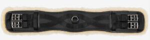 Horze Atlanta Doublée De Peau De Mouton Synthétique Noir Uc Cuir Dressage Circonférence-afficher Le Titre D'origine