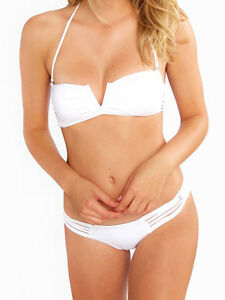 1907f337fa6 Frankie's Bikinis Willow White Shell Macrame Bikini Bottom XS   eBay
