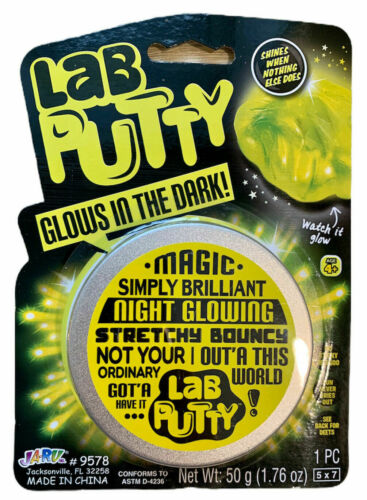 LED Scribbler NEW Sculpting Glass Glow in the Dark- Magnate LAB PUTTY Toy