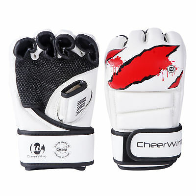 12oz Boxing Gloves MMA UFC Sparring Grappling Fight Punch Mitts PU Leather XL