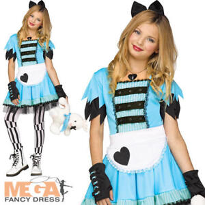 Alice In Wonderland Halloween Costumes Kids.Details About Alice In Wonderland Girls World Book Day Fancy Dress Kids Childs Costume Outfit
