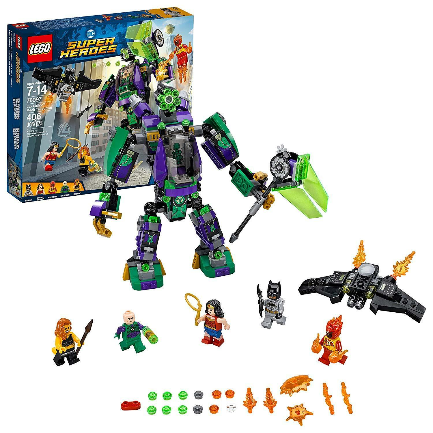 prezzi all'ingrosso LEGO DC Super Heroes Heroes Heroes Lex Luthor Mech Takedown 76097 costruzione Kit (406 Piece)  shopping online di moda