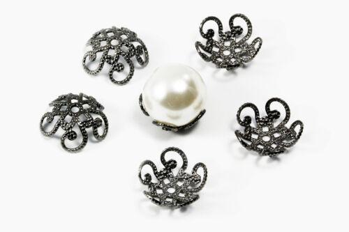 Perlenkappen aus Kupfer Ø 10 mm Kappen Perlenkappe Perlkappen Endkappen S145