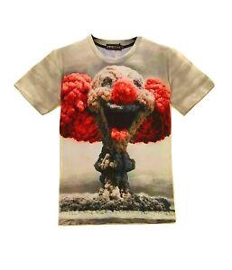 Clown-bombe-atomique-T-Shirt-All-Over-3d-Imprime-Drole-ironique-T-Shirt