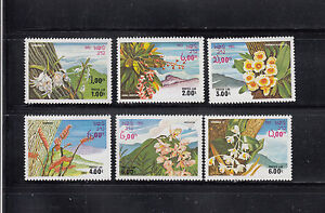 Laos-1983-Flowers-Sc-467-472-complete-mint-never-hinged