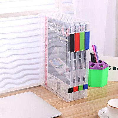 A4 Files Plastic Document Case Storage Box Holder Paper Office School Organizer