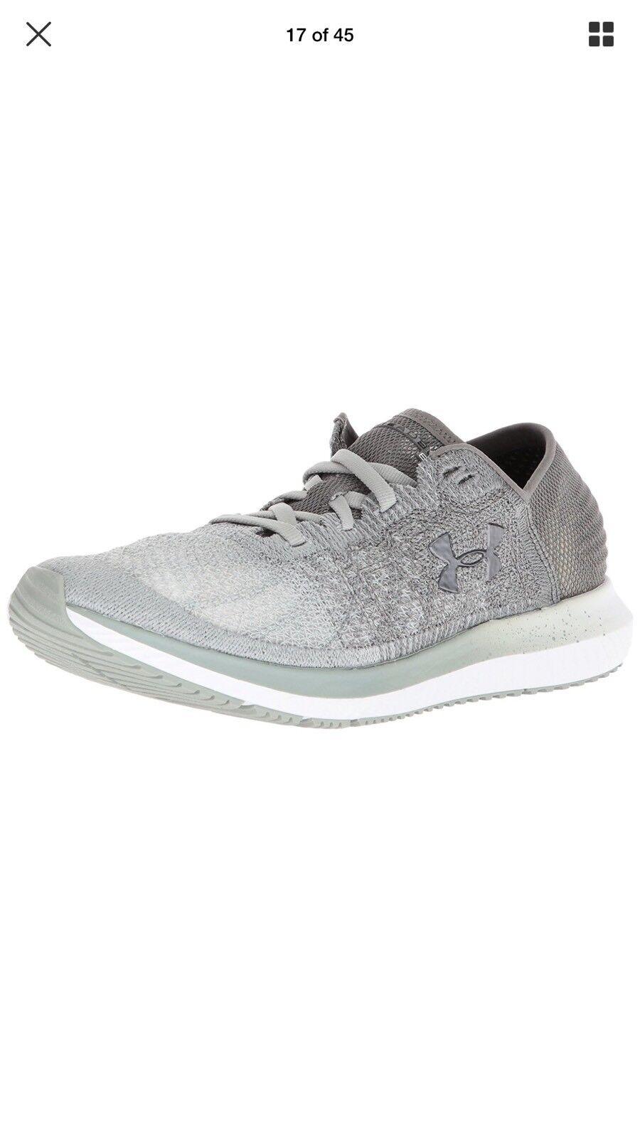 Under Armour UA Threadborne Blur Steel/Grey Running Shoes 2018 3000098-302 Size7