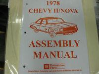 1978 Chevy Ii, Nova (all Models) Assembly Manual