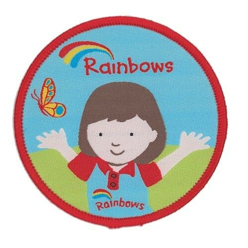 RAINBOW OLIVIA CLOTH BADGE OR METAL BADGE OFFICIAL UNIFORM NEW STYLE