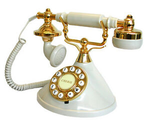 BRAND-NEW-MYBELLE-IVORY-383P-NOVELTY-RETRO-CORDED-PHONE-TELEPHONE
