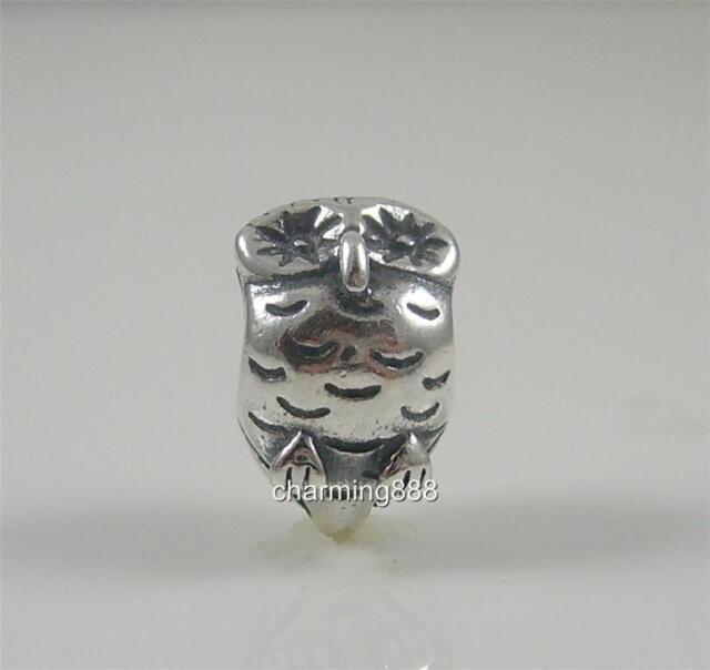 Genuine Authentic Pandora S/Silver Owl Charm Bead