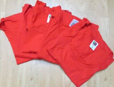 Men/'s Muscle Shooter Tee Fruit of The loom Medium 6 pc 4 Color 100 /% Cotton