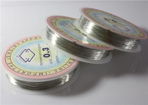 envoltura Alambre de cobre abalorios Tiara fabricación de joyas 0.2mm-1mm Elección del Color
