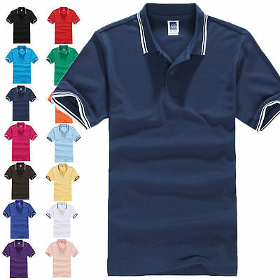 Hot New Men's Short Sleeve Golf Polo T-shirt MultiColors Size M L XL 2XL