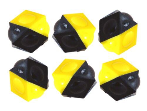 TIPP-KICK 6 x Ersatz Fussbälle SCHWARZ GELB Ball Sechs Stück Bälle Ersatzbälle
