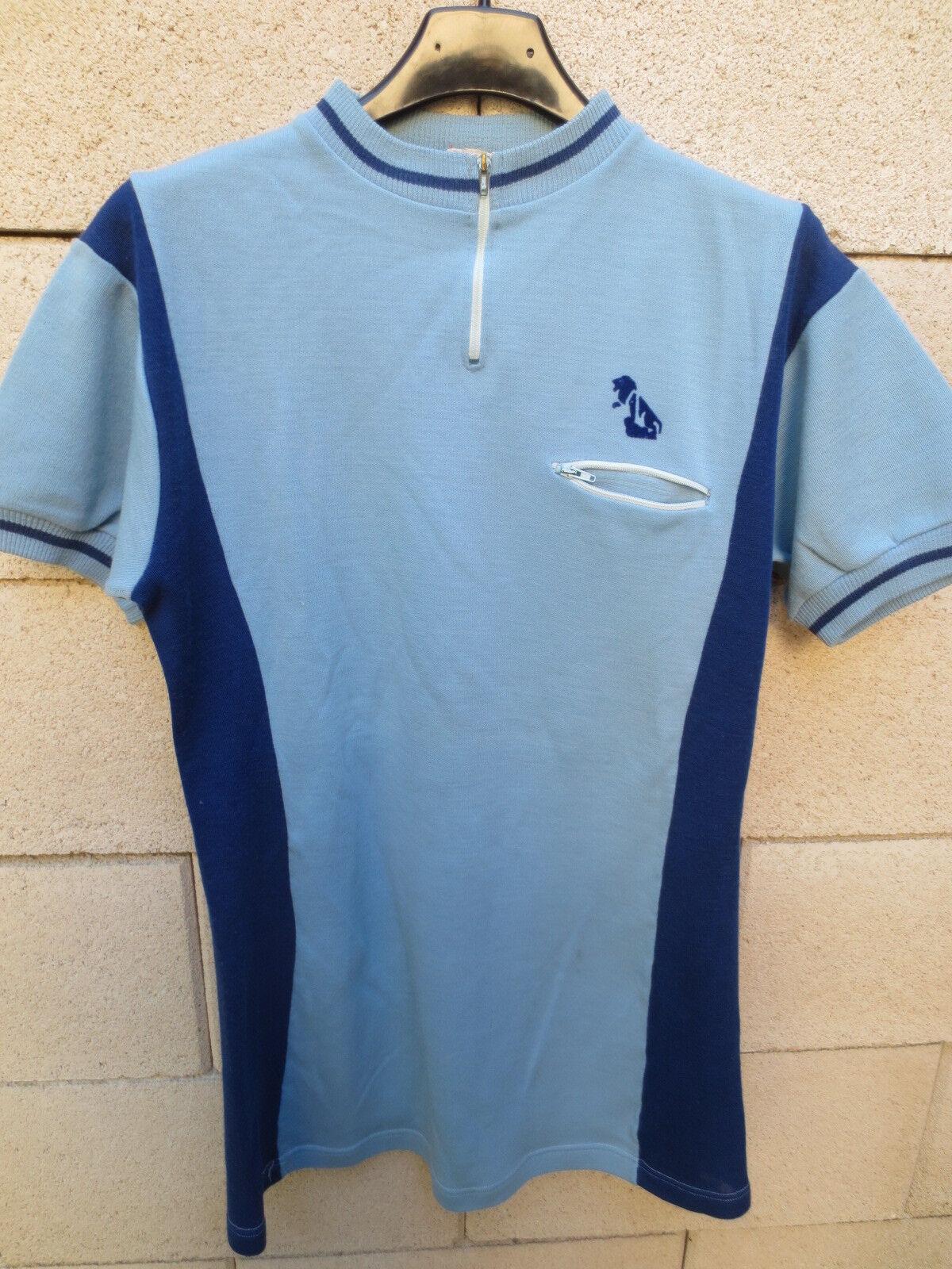 VINTAGE Maillot cycliste PEUGEOT ancien SGAP DT laine cycling shirt années 70 laine DT c5206a