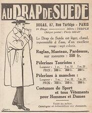 Z9561 Au Drap de Suede - DUGAS -  Pubblicità d'epoca - 1927 Old advertising