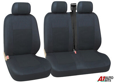 GREY BLACK FABRIC SEAT COVERS 2+1 FOR NISSAN NV300 NEW