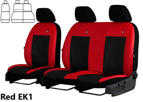 PEUGEOT PARTNER VAN 2+1 2008 ONWARDS ECO LEATHER TAILORED SEAT COVERS