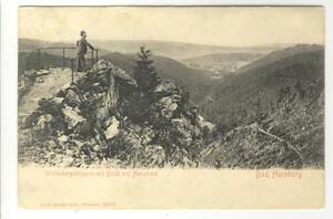 AK-Bad-Harzburg-Winterbergsklippen-mit-Blick-auf-die-Stadt-1906
