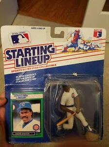 CHICAGO CUBS 1989  ANDRE DAWSON Kenner Starting Lineup Card