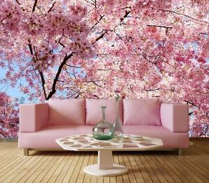 Dream Poem Pink Flower Tree Full Wall Mural Photo Wallpaper Print
