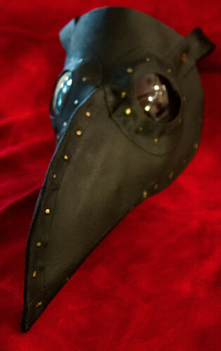 Halloween costume Handmade Plague Doctor/'s mask w//leather strap choose color