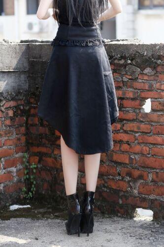 Pentagramme Asymmetric high waist skirt w gold buttons Gothic Steampunk J030081