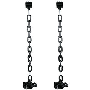 Weight-Lifting-Chains-Pairs-12KG-Olympic-Barbell-Chain-w-Collars-Power-Training