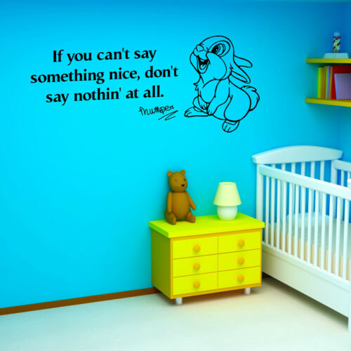 THUMPER If you cant say something nice WALT DISNEY vinyl wall art sticker quote