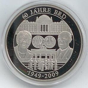 Das Bild Wird Geladen Medaille 60 Jahre Bundesrepublik Deutschland 1949 2009 40