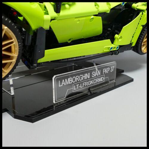 LAMBORGHINI sián FKP 37 Acrilico Display Stand per LEGO Technic modello 42115