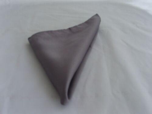 "Polyester Grey Pocket Hanky-9/"" x 9/"" = 23cm x 23cm/>More Squares U Buy/>More U Save"