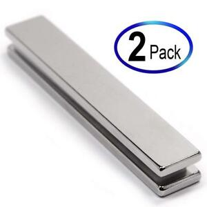 "The World's 2Pc Super Strong Neodymium Magnet N45 3 x 1//2 x 1//4/"" Bars"