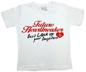 "SALE ITEM White T-Shirt 3/4 yrs ""Future Heartbreaker"" End of Line item."