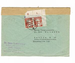 Sbz magnifique double utilisés ortsbrief à partir de Berlin 1-4 avec Auchinleck MiNr. 214-afficher le titre d`origine oG9dN0cL-07161913-321405196