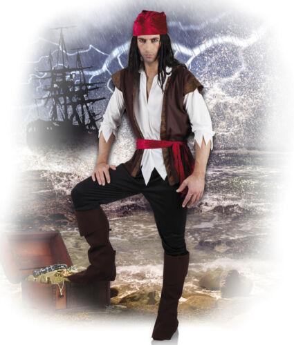 PIRATA Bucanieri Taglia L U XL COMPLETO 8353 7 Pezzi Costume Da Pirata Da Uomo