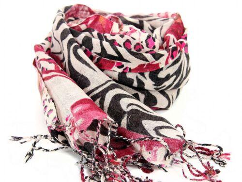 Women/'s Fashion Animal Print Wool Scarf Beige//Multi Scarves Wraps