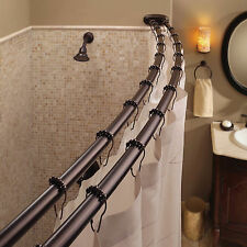 Exceptional Double Curved Shower Curtain Rod Adjustable Crescent Fixture Oil Rubbed  Bronze