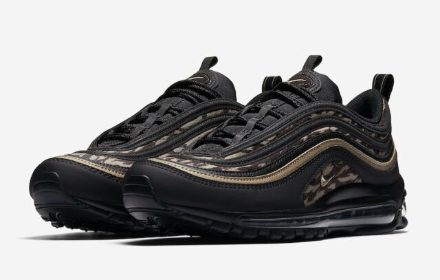 NIKE AIR MAX 97 AOP BLACKKHAKI BROWN [AQ4132 001] US MEN SZ 11.5