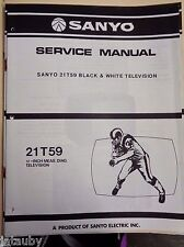 SANYO Vintage Original Black and White Television 21T59 Service Manual