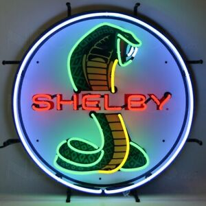 Shelby Cobra Jet Ford Mustang Neon Sign Gt Muscle Car Man Cave Wall Lamp Olp Ebay