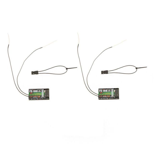 2Pcs 2.4G Flysky FS-iA6 6CH Receiver W/Double Antenna For Transmitter B8X2