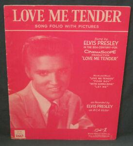 Elvis-Presley-RCA-Love-Me-Tender-Song-Book-Folio-amp-Pictures-Hill-Range