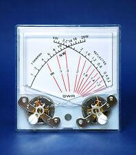 10pc SP-70-1 Panel Meter Dual SWR Forwad 20W / Reflected 4W 100uA Flash Star SD