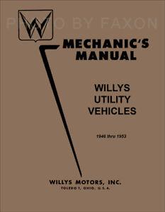 willys jeep repair shop manual pickup truck station wagon cj 1946 rh ebay com 1946 Willys Jeep Tailgate Willys CJ3A