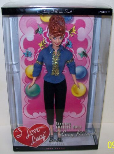 Mattel I Love Lucy Tells the Truth Barbie Collector Doll NEW Pink Label 2009