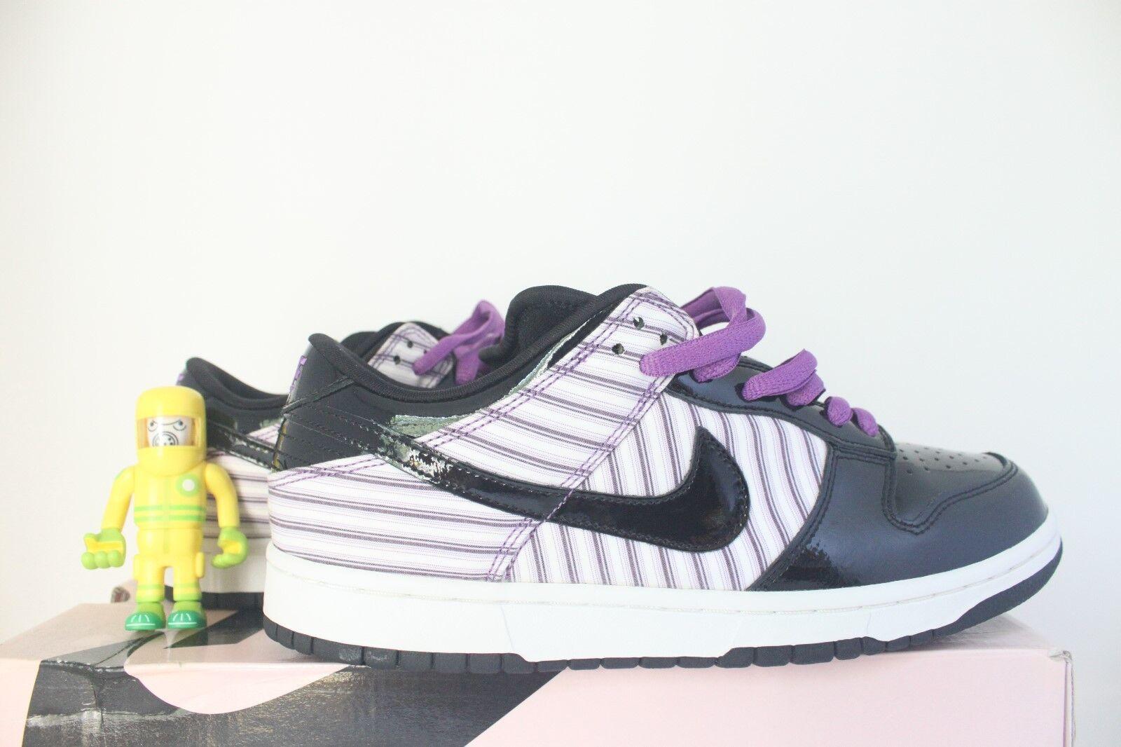 Nike SB Purple Avenger PL SZ 10 patent leather banker pinstripe dunk 312710-101